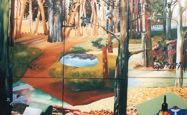 Détail du tableaux Fragments de Narcisse de Ksenia Milicevic.